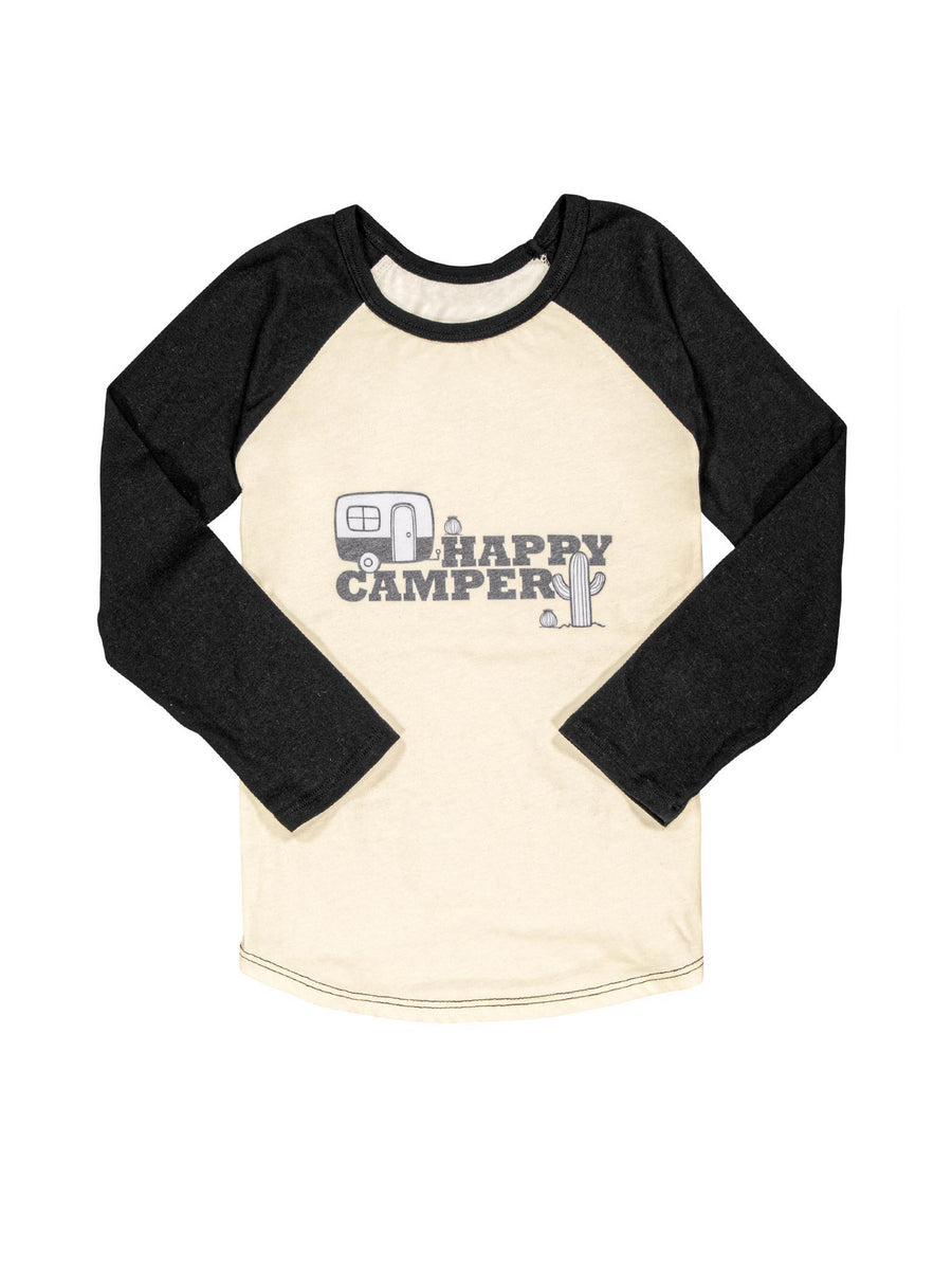 Boys Happy Camper Raglan Tee