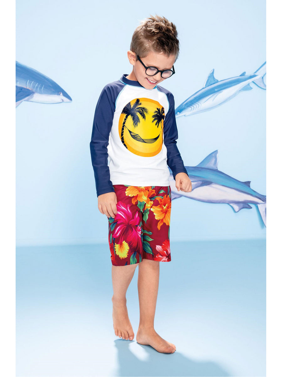 Boys Hibiscus Board Shorts