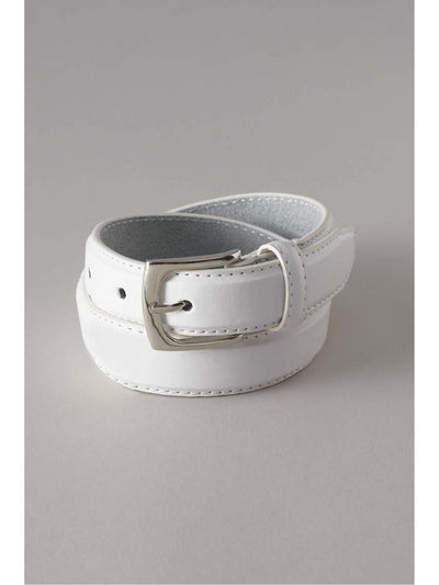 Boys Leather Belt  whi 1