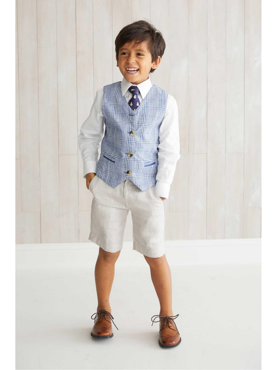 Boys Linen Dress Shorts