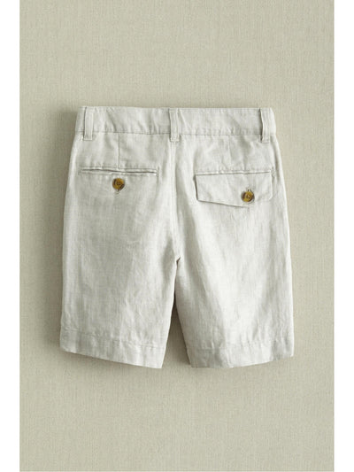 Boys Linen Dress Shorts  oat alt2