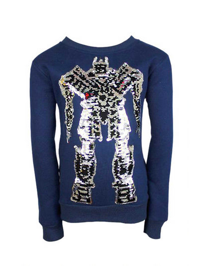 Boys Mighty Robot Sweatshirt  navy alt1