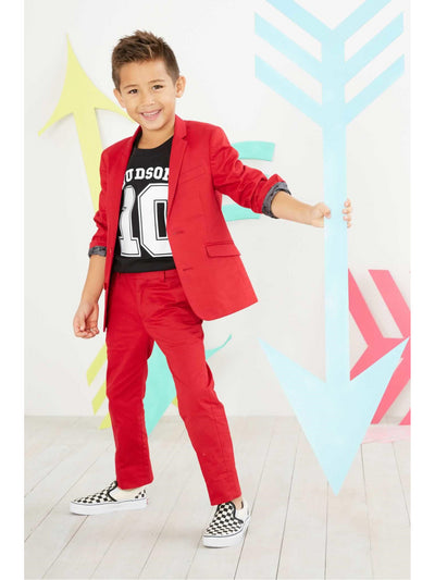 Boys Mod City Suit  red alt1