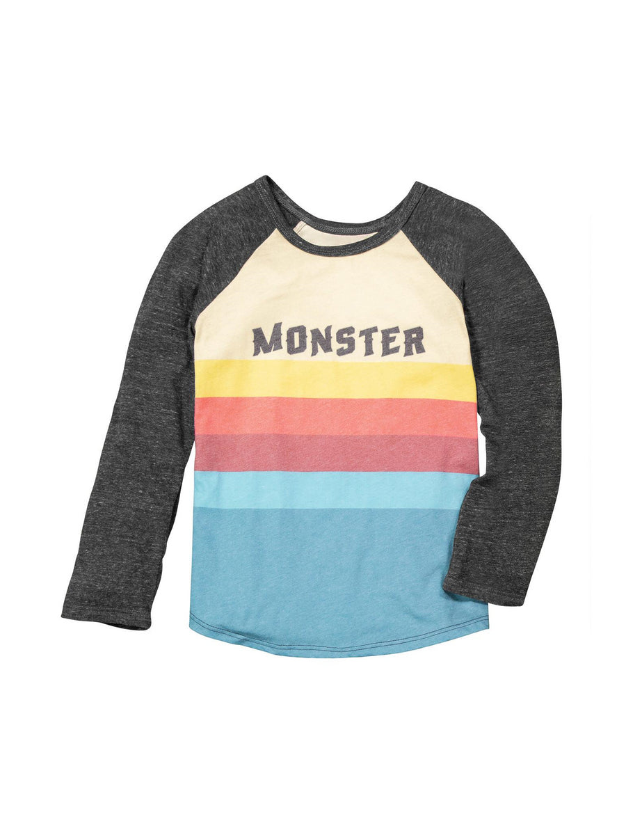 Boys Monster Raglan Tee