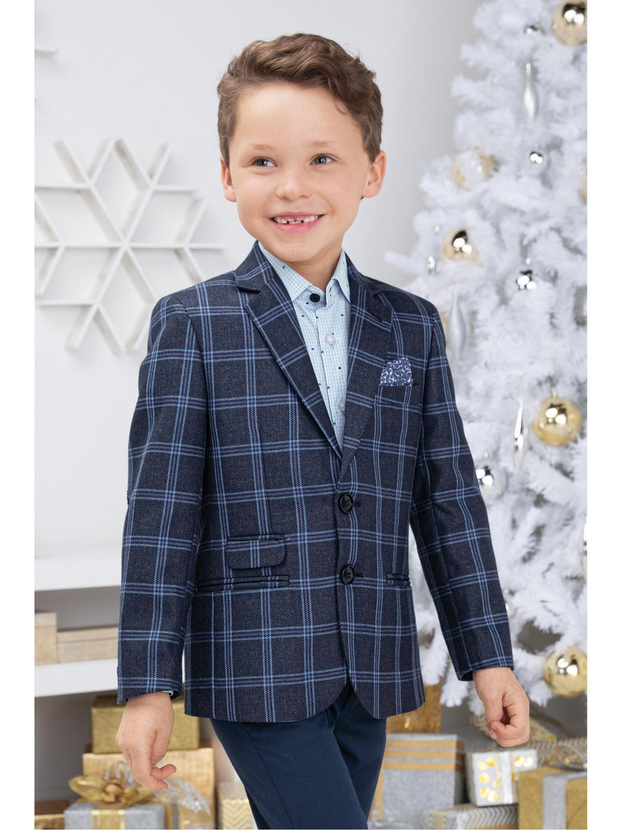Boys Natty Plaid Blazer