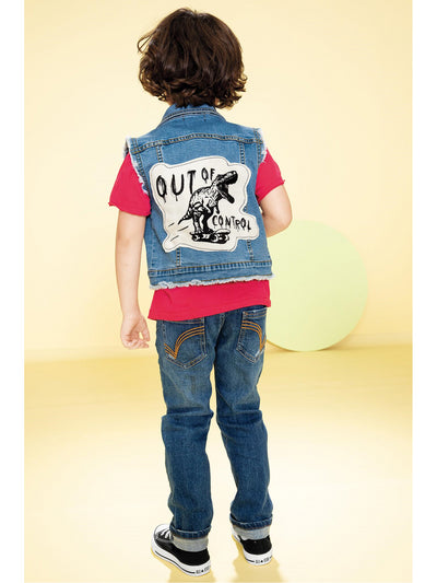 Boys Out of Control Denim Vest