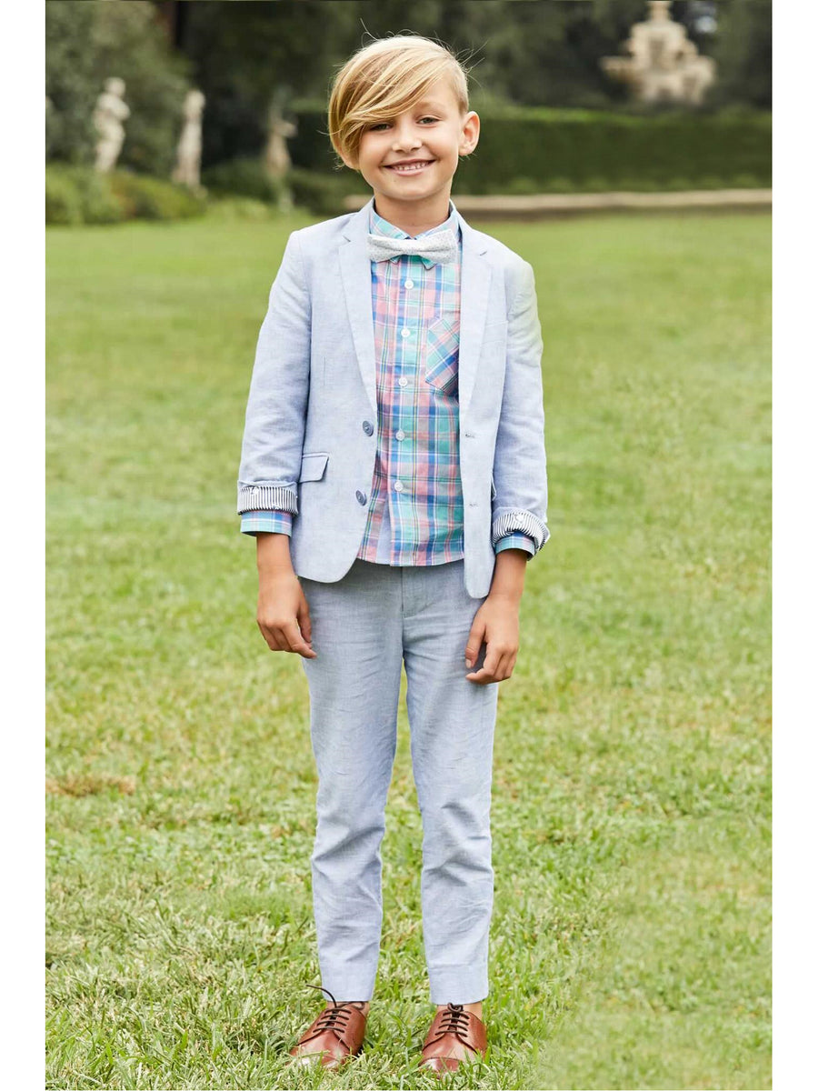 Boys Pastel Plaid Shirt
