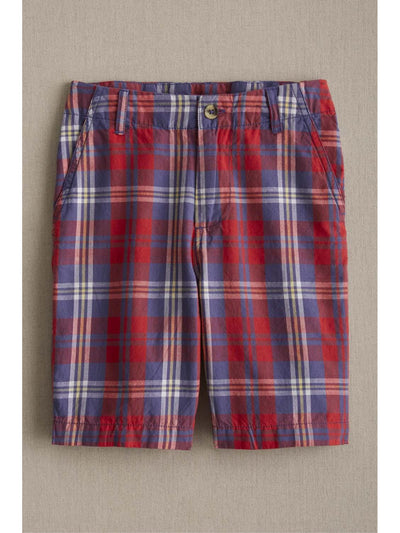 Boys Patriot Plaid Shorts