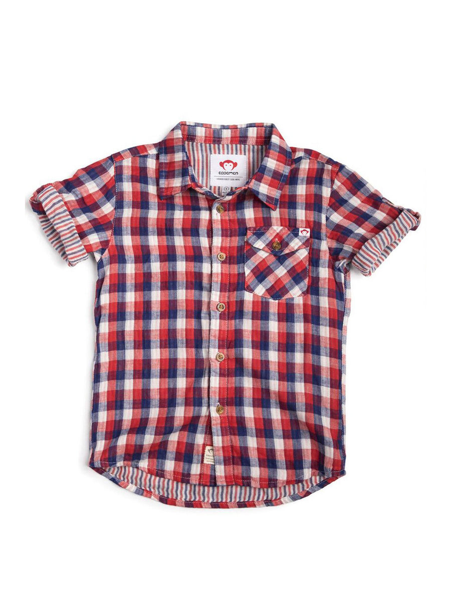 Boys Patriotic Check Shirt