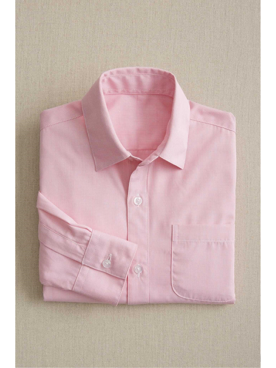 Boys Pink Textured Shirt