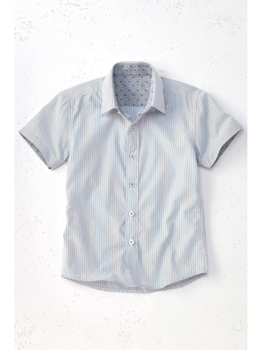 Boys Pinstripe Easy Care Dress Shirt