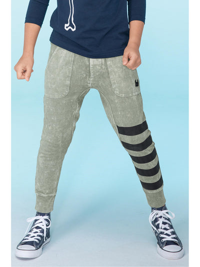Boys Pocket Track Pants with Leg Stripes