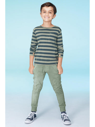 Boys Pocket Track Pants  olv alt1