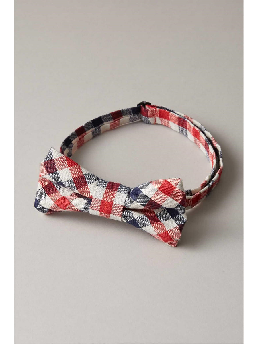 Boys Preppy Plaid Bow Tie