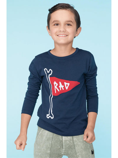Boys Rad to the Bone Tee  navy alt1