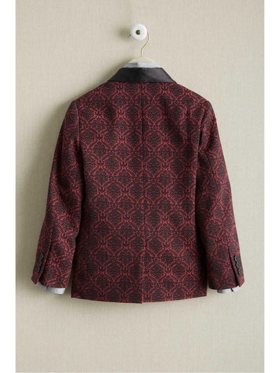 Boys Red Brocade Jacket  red alt2
