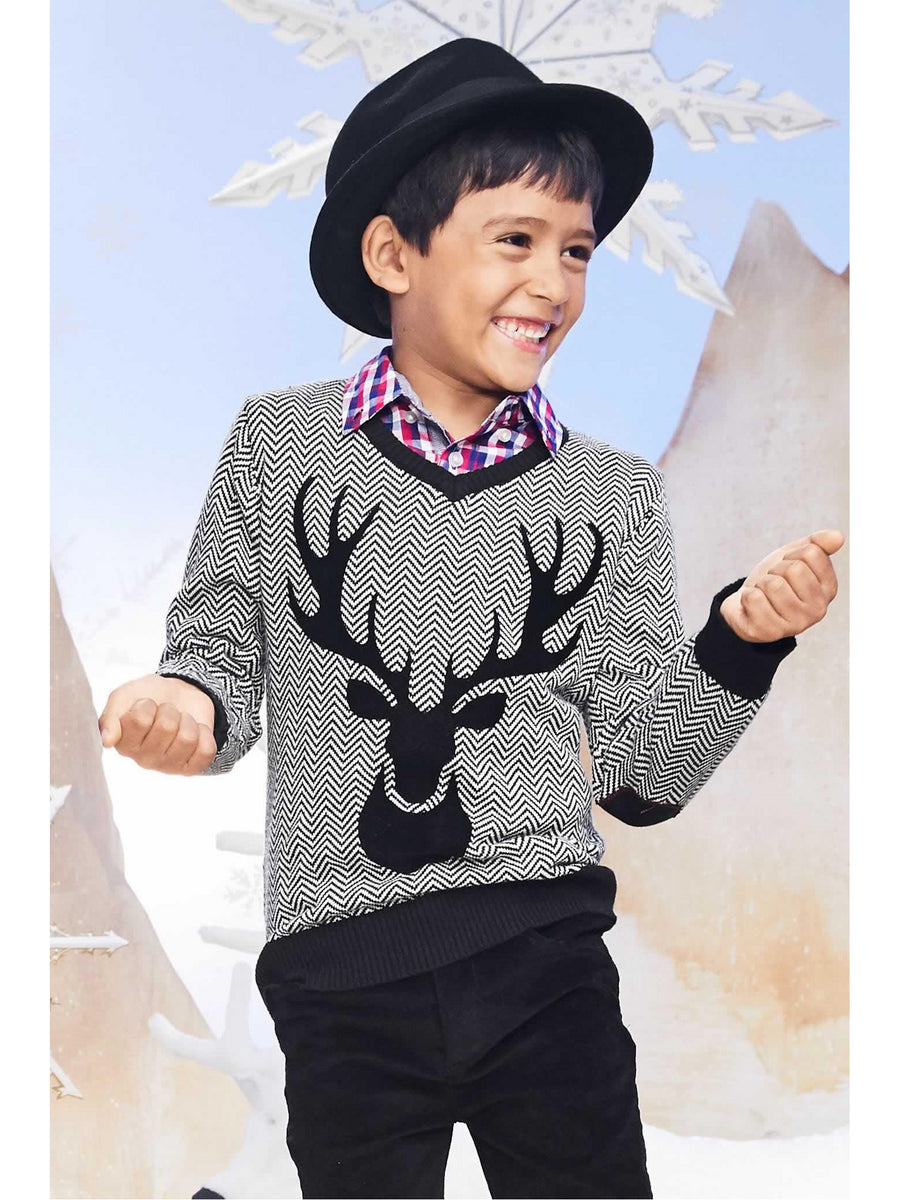Boys Reindeer Sweater