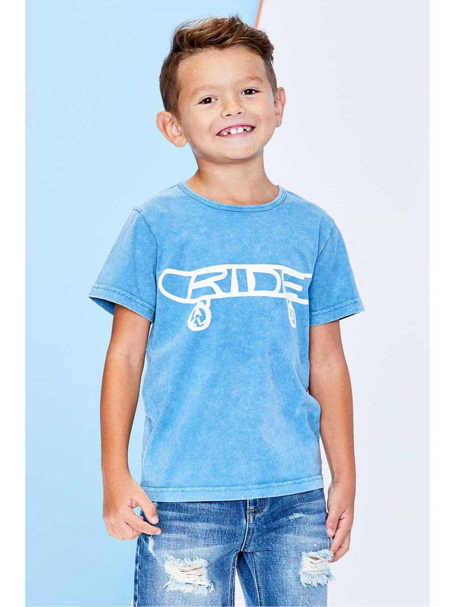 Boys Ride All Day Skateboard Tee