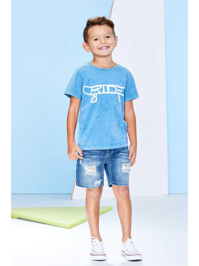 Boys Ride All Day Skateboard Tee  indg 1