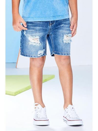 Boys Ripped Denim Shorts