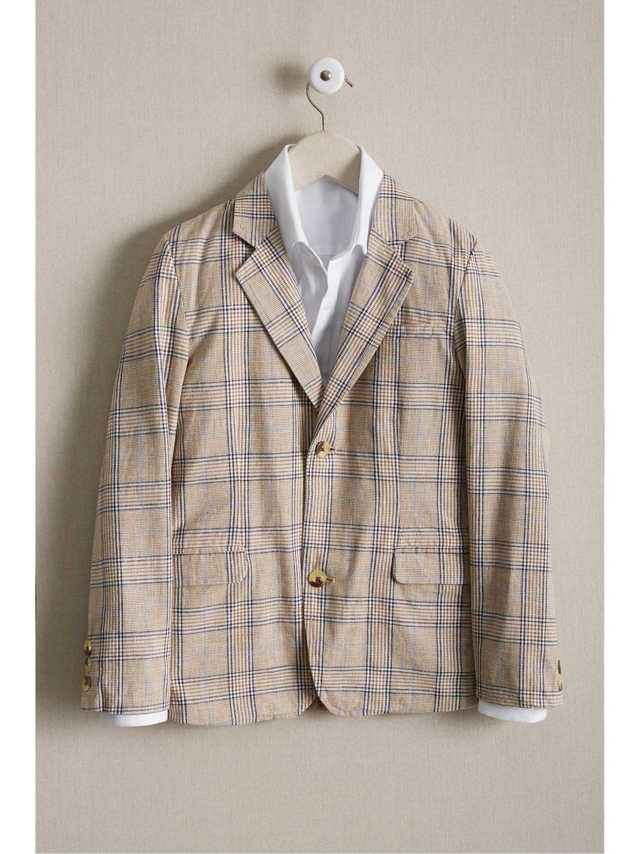 Boys Rustic Plaid Blazer