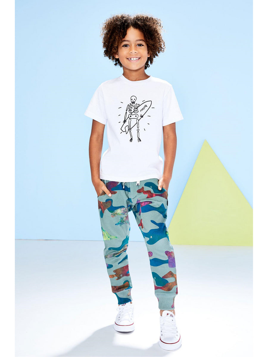 Boys Skeleton on Board Tee
