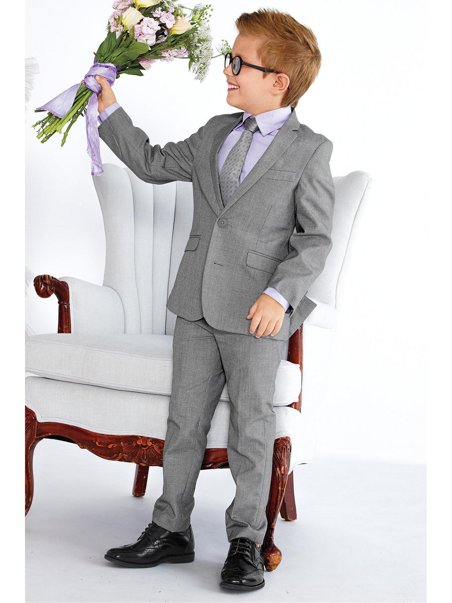 Boys Slate Gray Suit