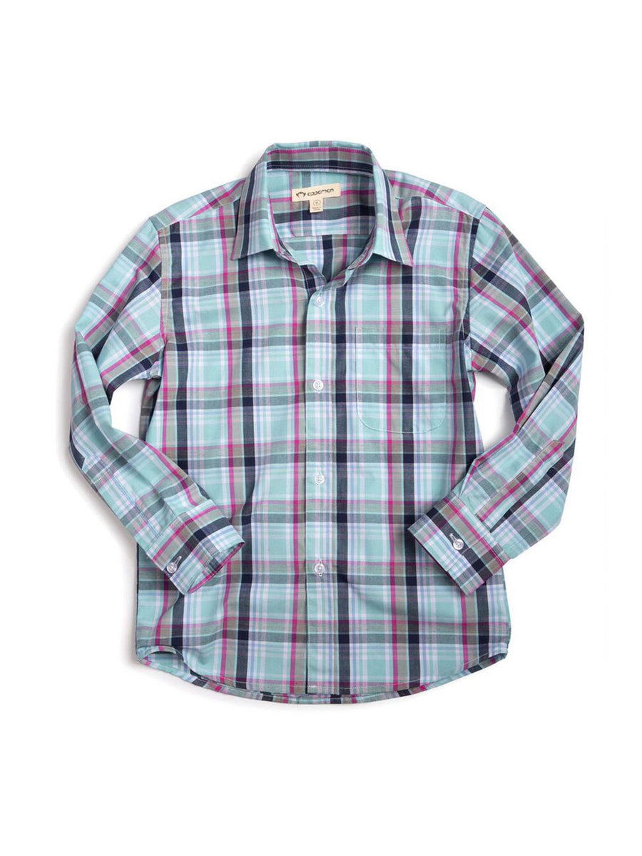 Boys Spring Plaid Shirt
