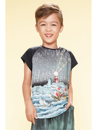 Boys Stormy Seas Tee  grey alt1