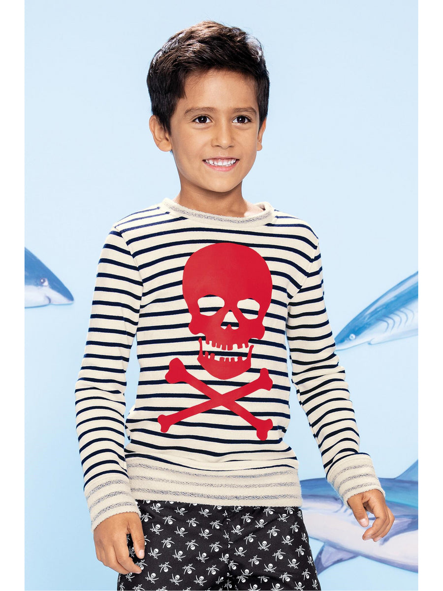 Boys Stripe Pirate Sweatshirt