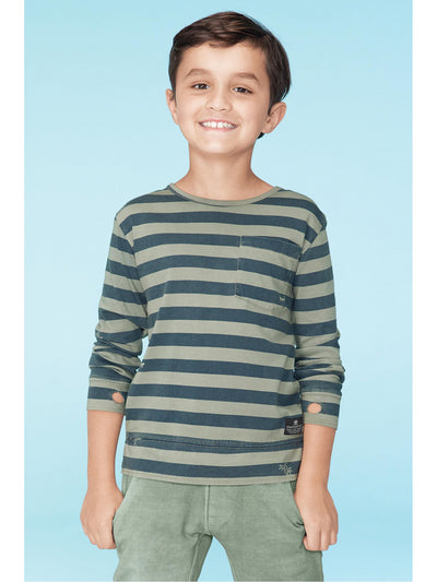 Boys Stripes & Graphics Pocket Tee  wshol alt1