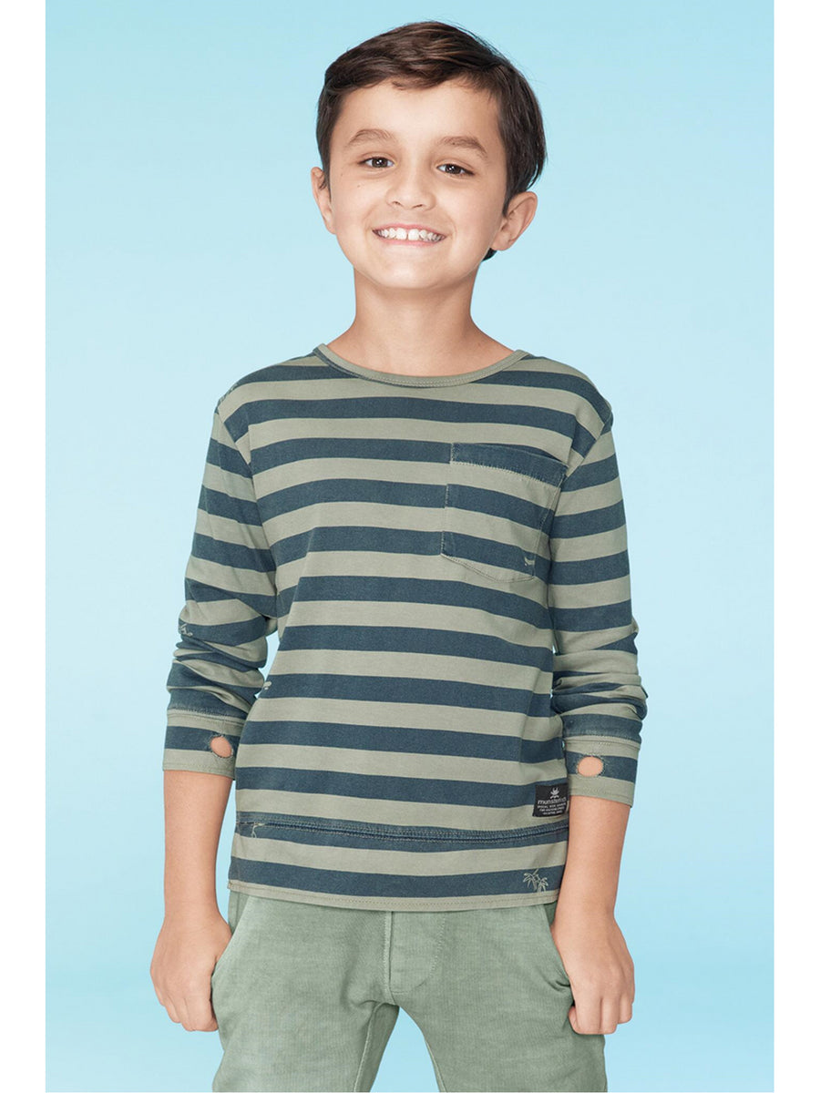 Boys Stripes & Graphics Pocket Tee