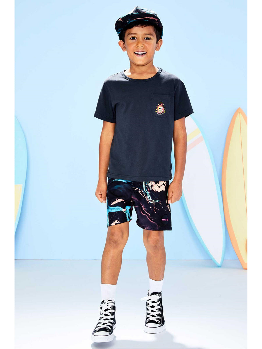 Boys Swirling Currents Board Shorts