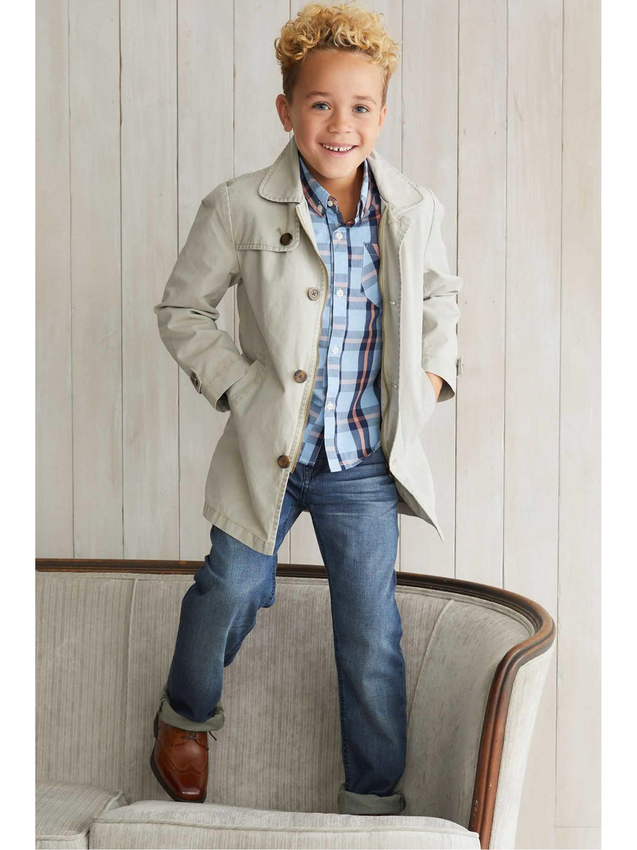 Boys Towne Trench Coat