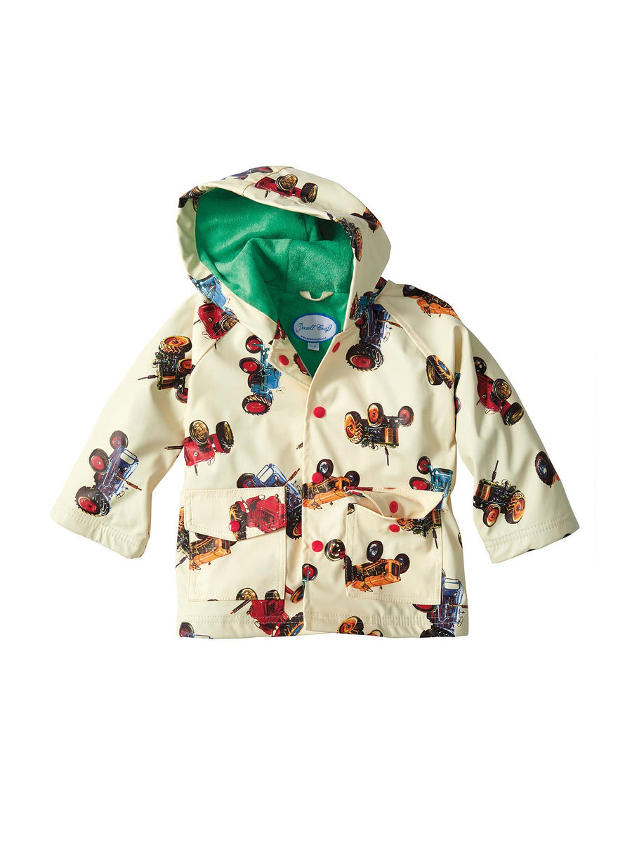 Boys Tractor Print Raincoat