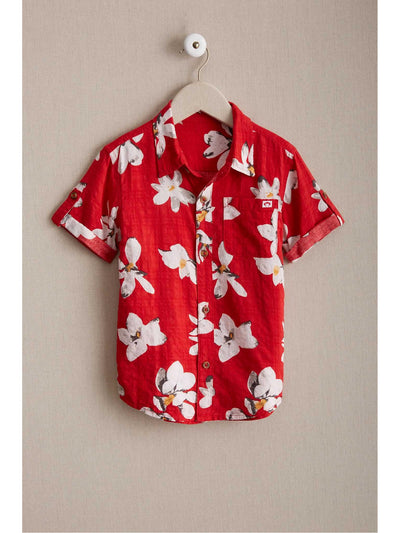Boys Tropical Floral Shirt