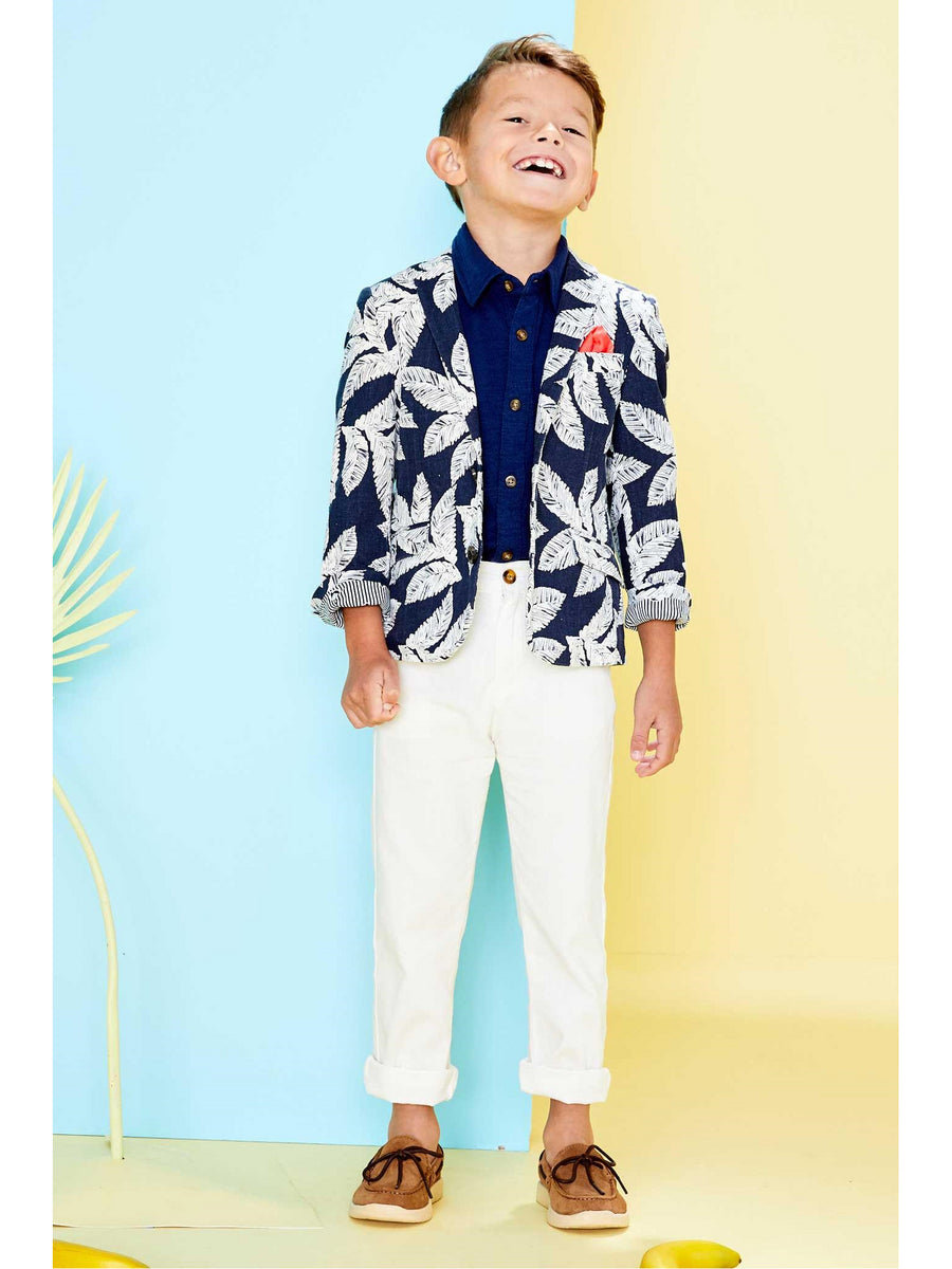 Boys Tropical Print Blazer