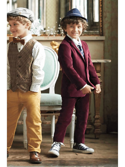 Boys Velvet Suit  mar alt1