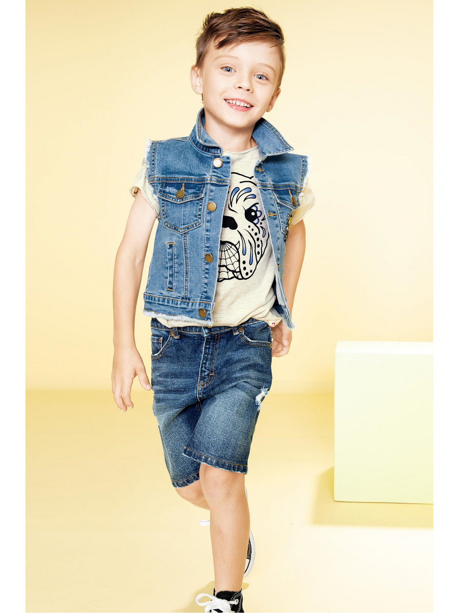 Boys Vintage Denim Cutoff Shorts
