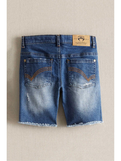 Boys Vintage Denim Cutoff Shorts  blu alt2