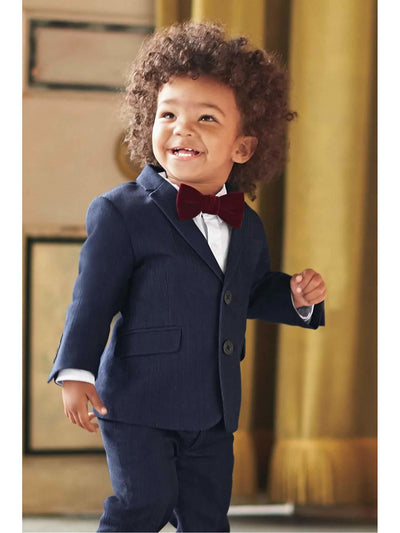 Boys White Oxford Romper  whi alt1