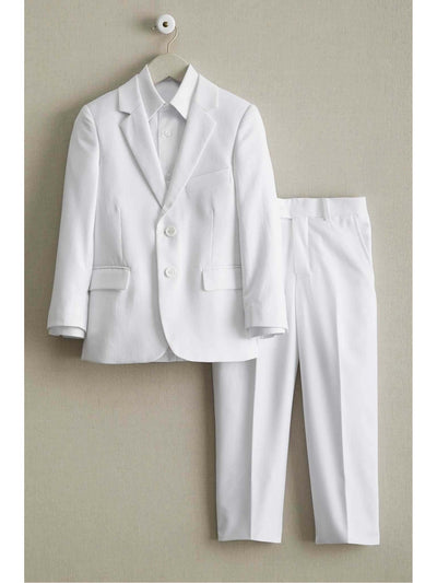Boys White Tailored Suit  whi alt1
