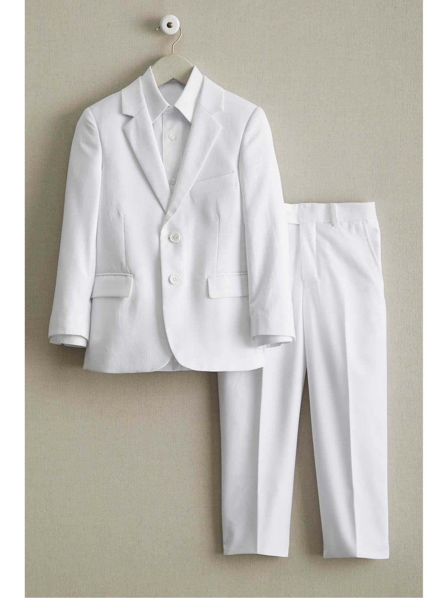 Boys White Tailored Suit