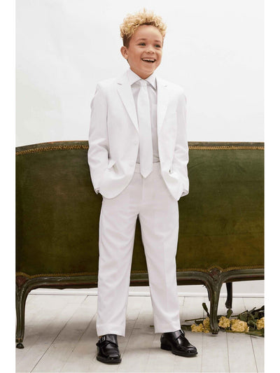 Boys White Tailored Suit  whi alt2