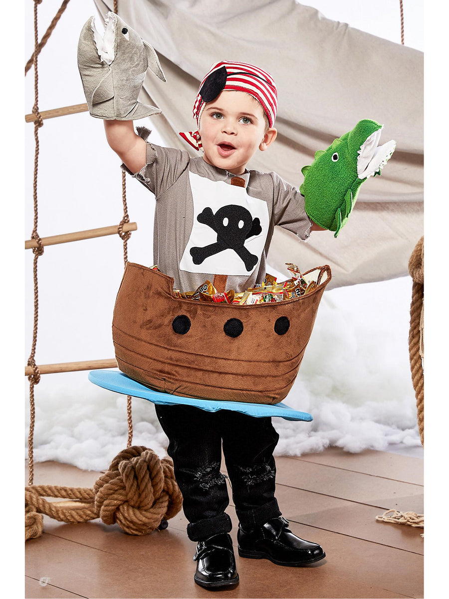 Candy Catcher Pirate Ship Costume for Kids