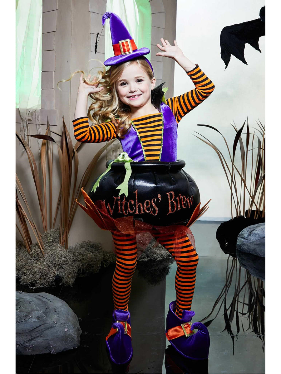 Cauldron Witch Costume for Girls