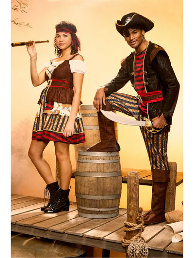 Classic Pirate Costume for Men  red alt1