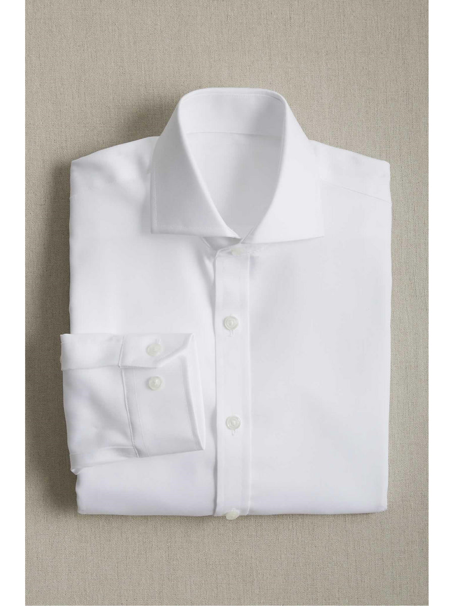Boys Easy-Care Classic White Pinpoint Shirt