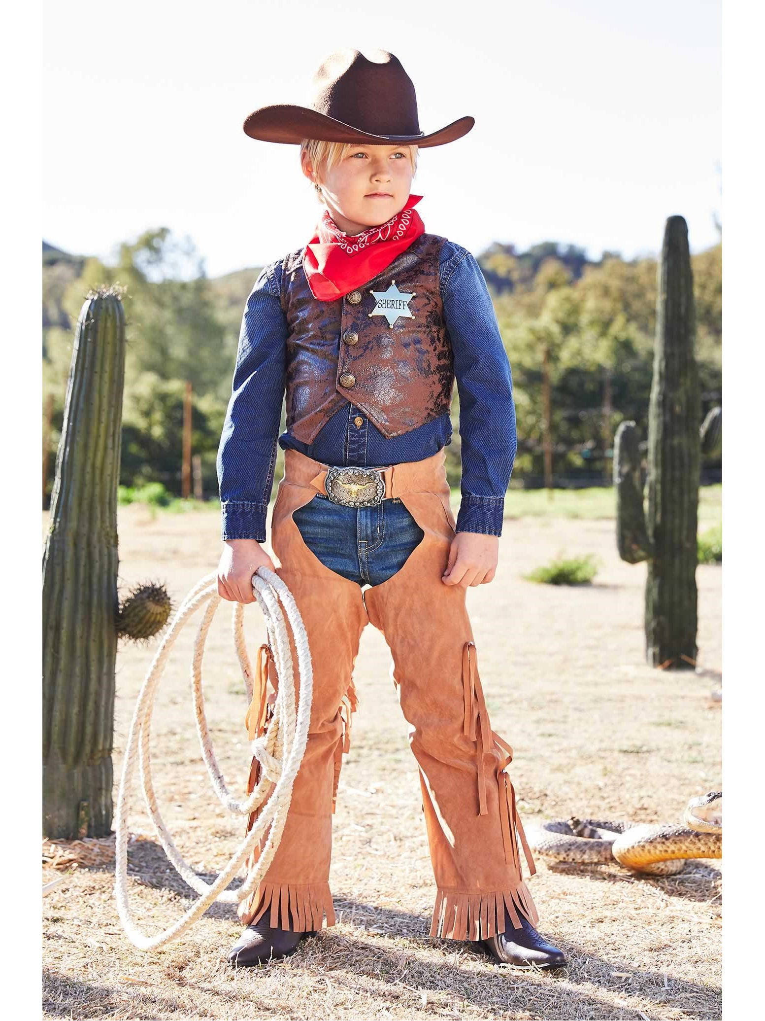 Cowboy Costume For Kids Chasing Fireflies