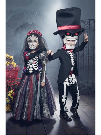 Day Of The Dead Catrina Costume For Girls  mlt alt1